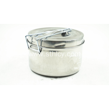 Stainless Steel Food Container With Single Handle